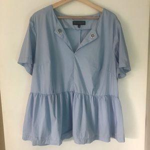 Eloquii peplum blouse baby blue